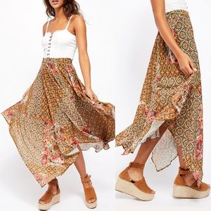 Free People Skirts - Free People Stay Awhile floral Maxi Skirt